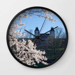 The Kennedy Art Museum in Spring Wall Clock