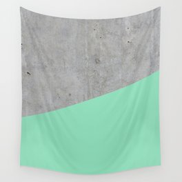 Concrete and Sea Color Wall Tapestry