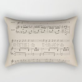 The Pretty Little Maiden's Sea Trip Rectangular Pillow