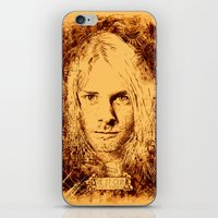 kurt cobain iPhone & iPod Skins featuring 27 Club - Cobain by MUSENYO