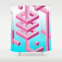 Isometric Adventure Shower Curtain
