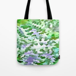 Foliage Abstract In Green and Mauve Tote Bag