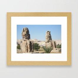 The Clossi of memnon at Luxor, Egypt, 1 Framed Art Print