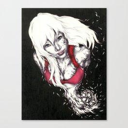 White Smile Canvas Print