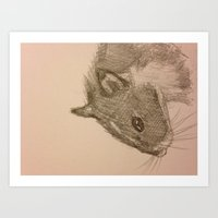 hamster Art Prints featuring Hamster! by NeceyK