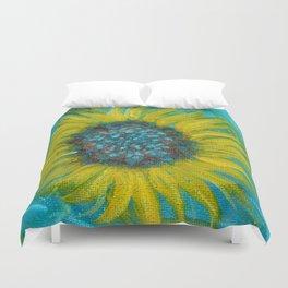 Sunflowers on Turquoise II Duvet Cover