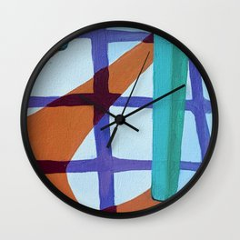 Colour Study of Chair on Tiles Wall Clock