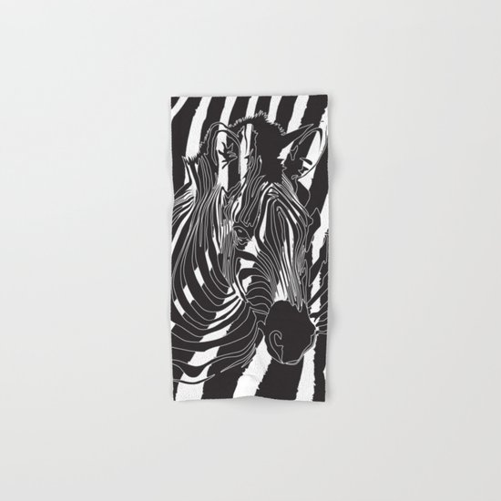 Zebra - Optical Art 5 Hand & Bath Towel