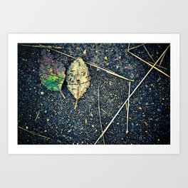 leaf you Art Print