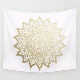 BOHO NIGHTS GOLD MANDALA Wall Tapestry