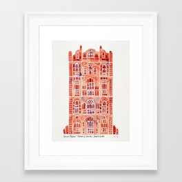 Hawa Mahal – Palace of the Winds in Jaipur, India Framed Art Print
