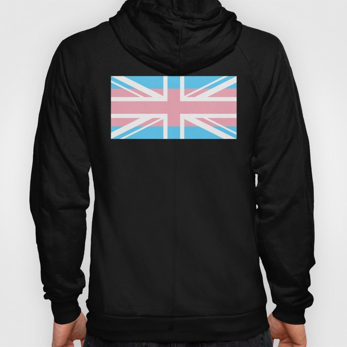 Gay Pride LGBT Transgender UK Union Flag Stripe design Hoody