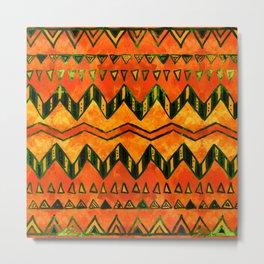 Aztec Ethnic Pattern Art N16 Metal Print