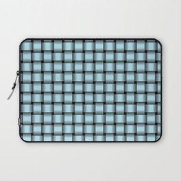 Small Pastel Blue Weave Laptop Sleeve