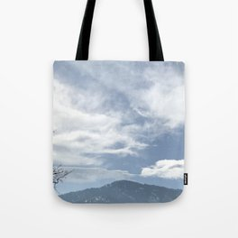 Green Mountain Flatirons in Boulder, Colorado Tote Bag