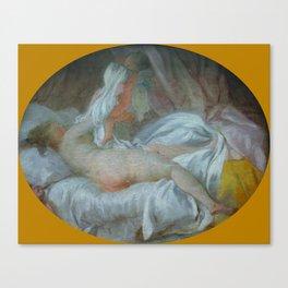"""Jean-Honoré Fragonard """"La Chemise enlevée (The Shirt Withdrawn)"""" Canvas Print"""