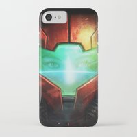metroid iPhone & iPod Cases featuring Metroid by Joe Roberts