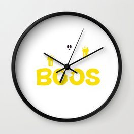 I'm Just Here For The Boos Halloween Trick Or Treat Wall Clock