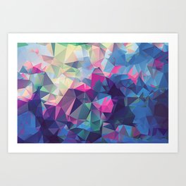 Polygonal Art with Triangles Vol 2 Art Print