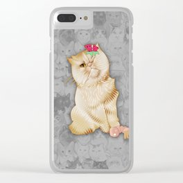 Peaches Revision Clear iPhone Case