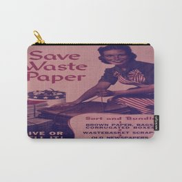 Vintage poster - Save Waste Paper Carry-All Pouch