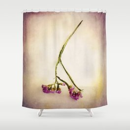 Abandoned Purple Flower Shower Curtain