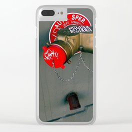AUTO SPKR - Tagged And Labeled Clear iPhone Case