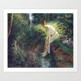 Camille Pissarro Bather in the Woods Art Print