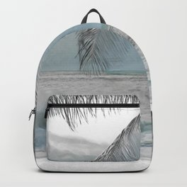 White Coconut Palm Tree Backpack