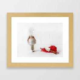 Little MIss Hissy Fit Framed Art Print