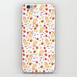Floral Autumn Pattern iPhone Skin