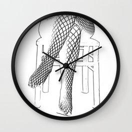 Fishnet Stockings Wall Clock