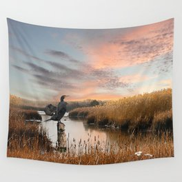 Sunset in the Wetlands Wall Tapestry