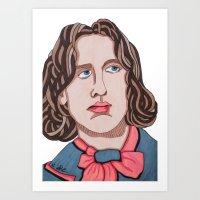 oscar wilde Art Prints featuring Oscar Wilde by Emma Brutman