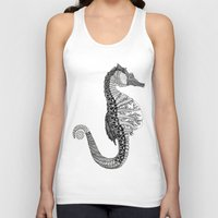 seahorse Tank Tops featuring SEAHORSE by VOLPINE