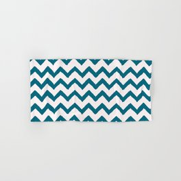 Chevron Teal Hand & Bath Towel