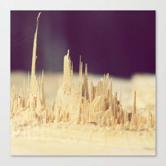 Wodden skyscrapers Canvas Print