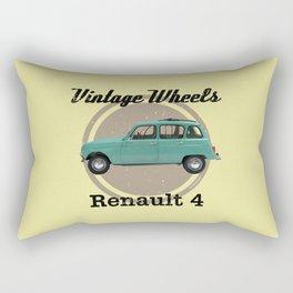 Vintage Wheels - Renault 4 Rectangular Pillow