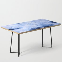 Marbled Water Blue Coffee Table