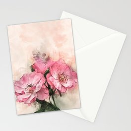 Vintage Pink Flower #floral #society6 #watercolor Stationery Cards