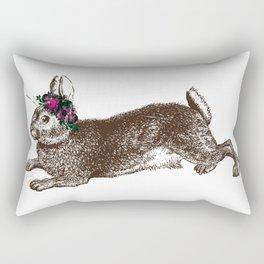 The Rabbit and Roses Rectangular Pillow