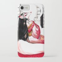 kitsune iPhone & iPod Cases featuring Kitsune by Aimee Steinberger