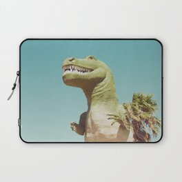 Dinosaur, T-rex, Animals, Cute, Kids, Children, Teal, Palm Springs Laptop Sleeve