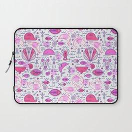 Sea pattern no 2 (pink) Laptop Sleeve