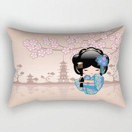 Japanese Keiko Kokeshi Doll Rectangular Pillow