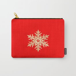 Snowflake in a Red Field Gift Carry-All Pouch