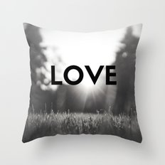 LOVE Sunshine Scenery (Valentine's Day Gifts / Black & White Valentine Day Gift) Throw Pillow