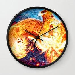 DARK PHOENIX Wall Clock