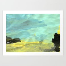 Landscape by a 3 year old Art Print