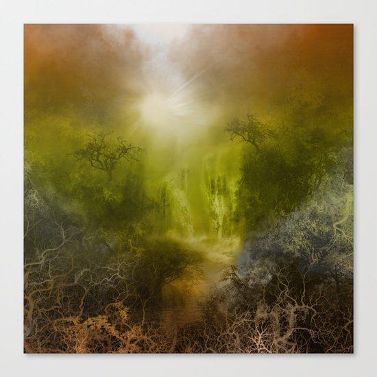 gold forest landscape Canvas Print